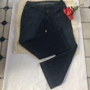 Eddie Bauer fit Curvy Trouser wide leg Jeans 12